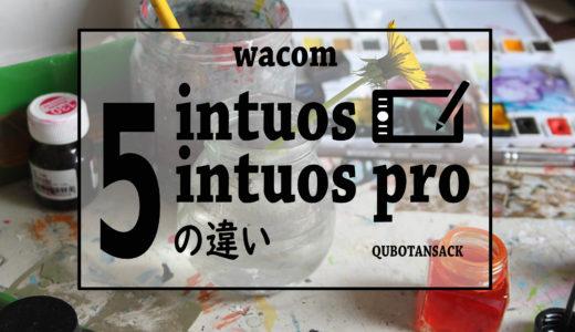 どっちを選ぶ?wacomのペンタブintuosとintuosproの5つの違いとは。
