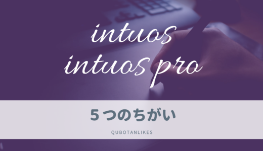 intuosとintuos proの5つの違い【デジ絵初心者がintuosを選ぶべき理由】